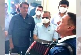 """""""PRESIDENTE FORTE"""": Paraibano Amazan recebe Jair Bolsonaro no Rio Grande do Norte com música de boas-vindas – VEJA VÍDEO"""