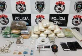 Casal é preso em depósito com 18 kg de drogas, em Campina Grande