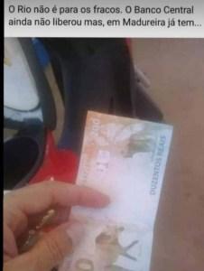 nota de 200 meme 226x300 - Sem ser lançada pelo Banco Central, nota de R$ 200 já circula no Rio de Janeiro