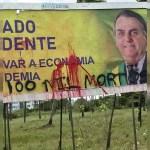 outdoor de bolsonaro - Outdoors favoráveis a Bolsonaro amanhecem pichados em João Pessoa