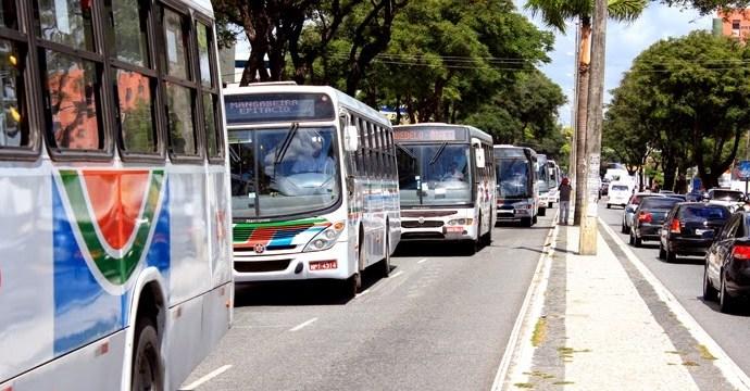 só onibus - FERIADO DO COMÉRCIO: transporte coletivo de João Pessoa opera nesta segunda-feira com frota reduzida