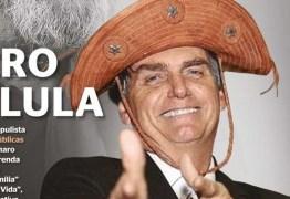 Com chapéu de couro, Bolsonaro é comparado a Lula em capa de revista