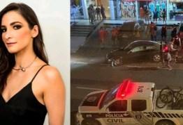 Após provocar acidente blogueira Celeste Maia é presa e passa por audiência de custódia nesta segunda-feira; VEJA VÍDEO