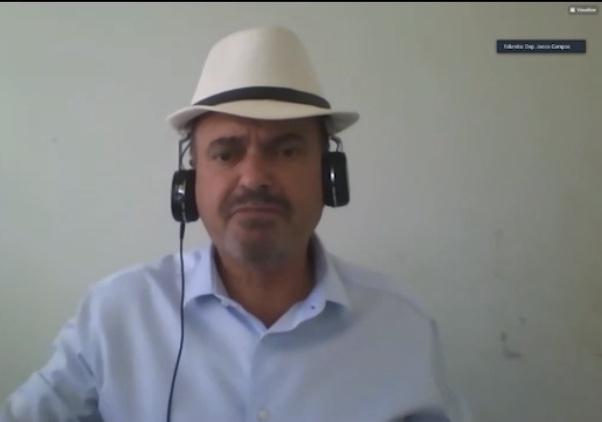 Deputado Jeová Campos é o autor do PL que institui as videochamadas para pacientes com Covid 19 - PL de Jeová Campos que propõe acesso virtual de familiares a pacientes da Covid-19 na PB é aprovado por unanimidade