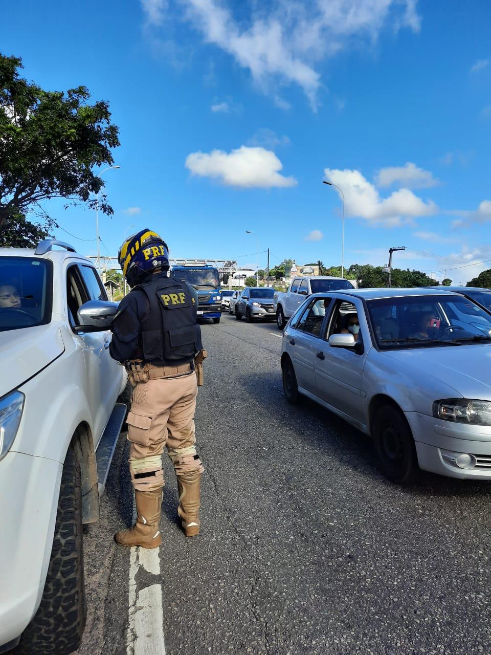 WhatsApp Image 2020 09 01 at 15.32.25 - Polícia Rodoviária Federal na Paraíba intensifica fiscalização para coibir o trânsito de veículos pelo acostamento