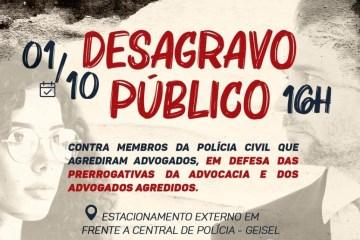 Em defesa da advocacia: OAB-PB realiza desagravo público contra membros da Polícia Civil, em João Pessoa