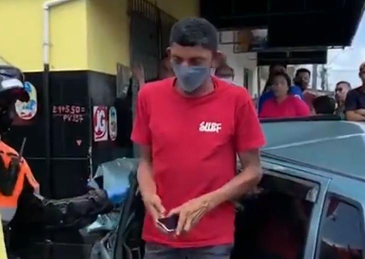 acidente valetina - Homem passa mal, perde controle do carro e atropela três pessoas em JP