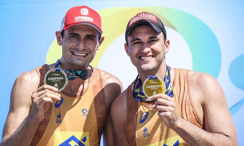 andre e george vendores volei de praia - André e George faturam 1ª etapa do Circuito Nacional de Vôlei de Praia