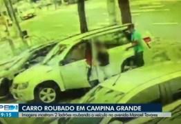 Trio é preso em Campina Grande, suspeito de roubar carro em estacionamento