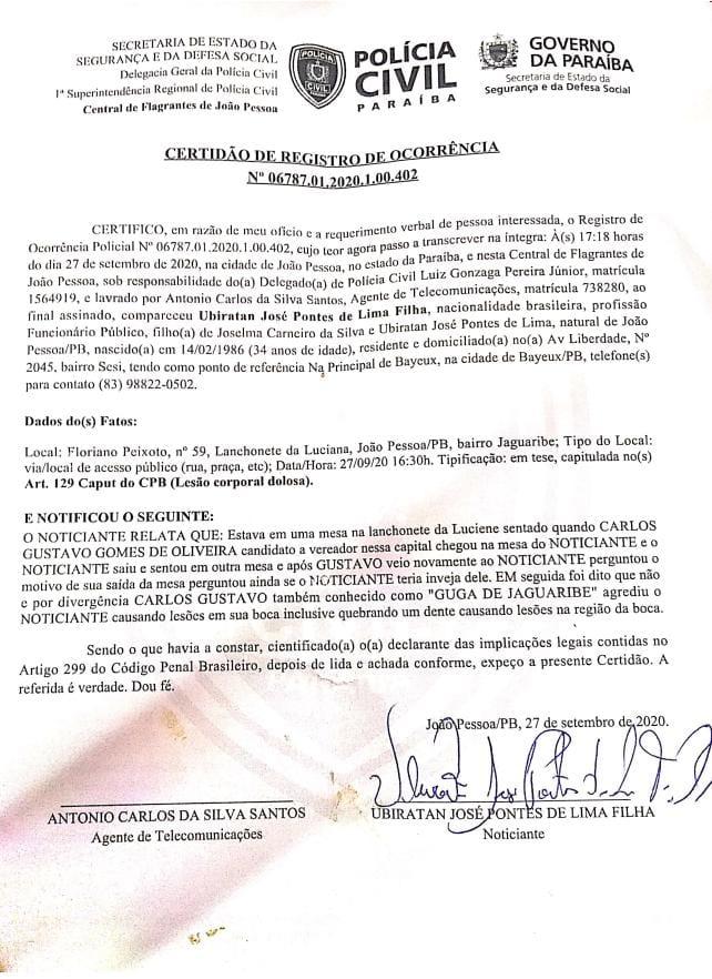 daf03b59 0bc1 44b8 a98b 7b99a2ca62e6 - IMAGENS FORTES: Candidato a vereador de João Pessoa 'Guga de Jaguaribe' agride e ameaça morador do bairro de Jaguaribe
