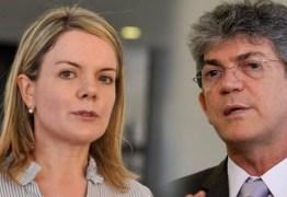 Gleisi Hoffmann reafirma apoio do PT nacional a candidatura de Ricardo e legenda está à procura de um vice; SAIBA MAIS