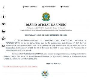 """nomeação lucio matos 300x266 - ELE VOLTOU: Hugo Motta vence """"queda de braço"""" com Edna Henrique e Lúcio Matos reassume Ministério da Agricultura na PB"""