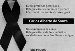 Polícia Civil emite nota de pesar pela morte do agente de investigação Carlos Alberto