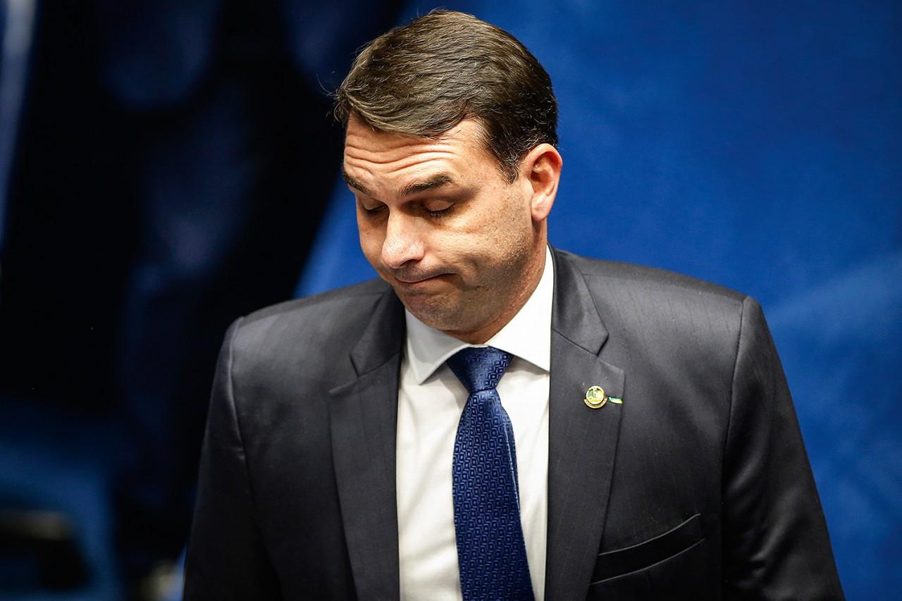 senado eleicao flavio bolsonaro - Flávio Bolsonaro criticou relatório apresentado por chefe da Receita sobre pesquisas de seu nome