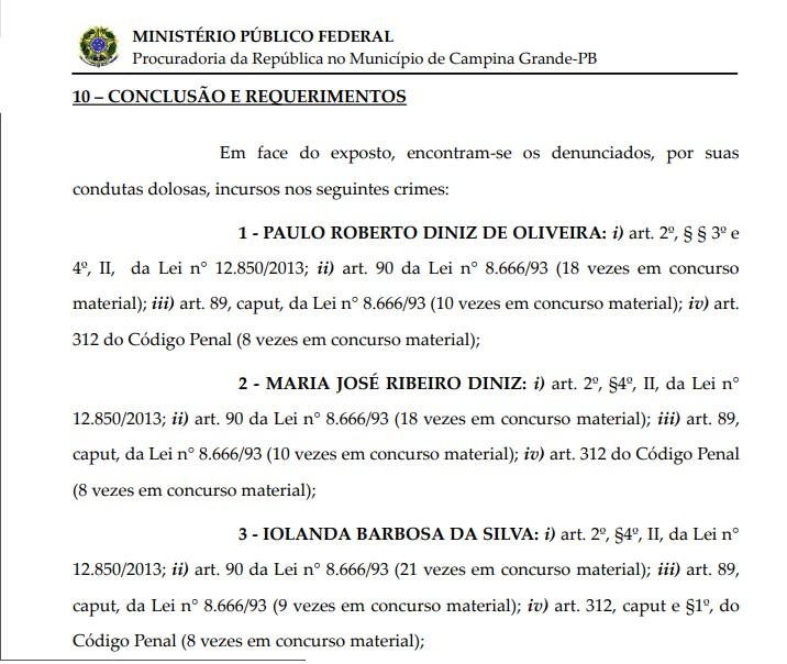 02 - FAMINTOS: MPF denuncia secretário de Educação e três ex-secretários em Campina Grande