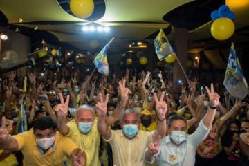 Renato Mendes lança sua campanha à reeleição em Alhandra ao lado do vice-prefeito Lêdo e dos deputados Branco Mendes e Efraim Filho