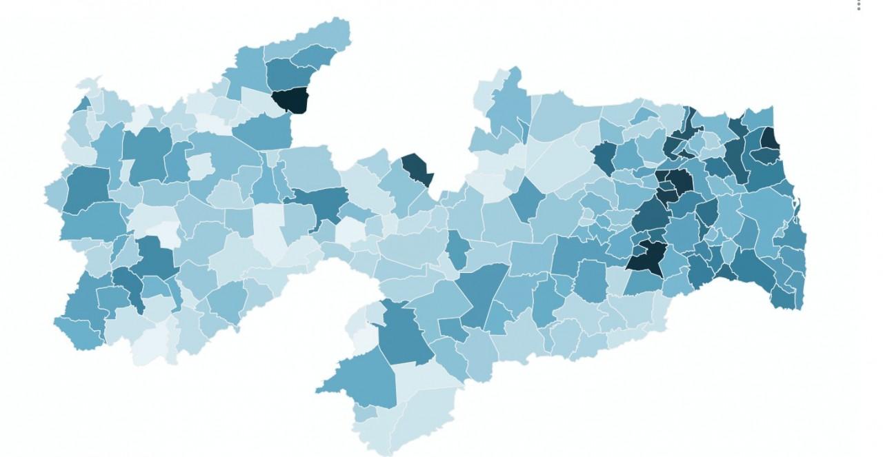 Capturar 29 - MAPA COVID PARAÍBA: João Pessoa, Campina Grande e Santa Rita estão entre as cidades que registraram o maior número de mortes, veja os números