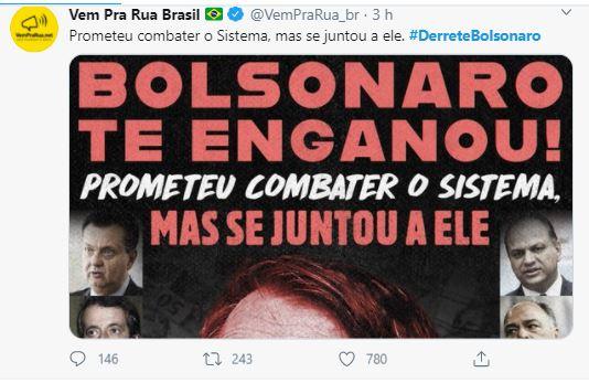"Capturar 9 - ""#DerreteBolsonaro"" ex- apoiadores do presidente organizam protesto no Twitter"