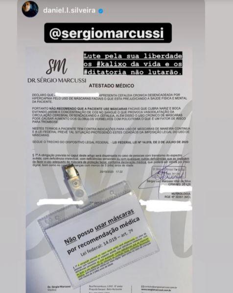 """Capturar.JPGj  2 - """"A LUTA DIÁRIA"""": Médico dá atestado para deputado entrar sem máscara em aeroporto"""