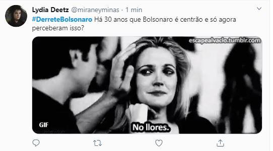 "Capturarffff 1 - ""#DerreteBolsonaro"" ex- apoiadores do presidente organizam protesto no Twitter"