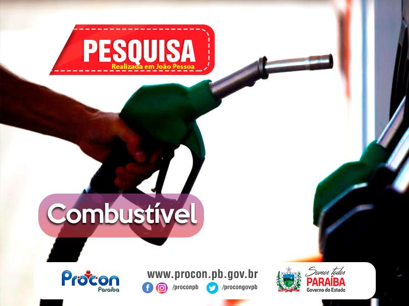 Combustivel - Pesquisa do Procon-PB feita em 93 postos, mostra preço de gasolina a partir de R$ 4,09, em João Pessoa