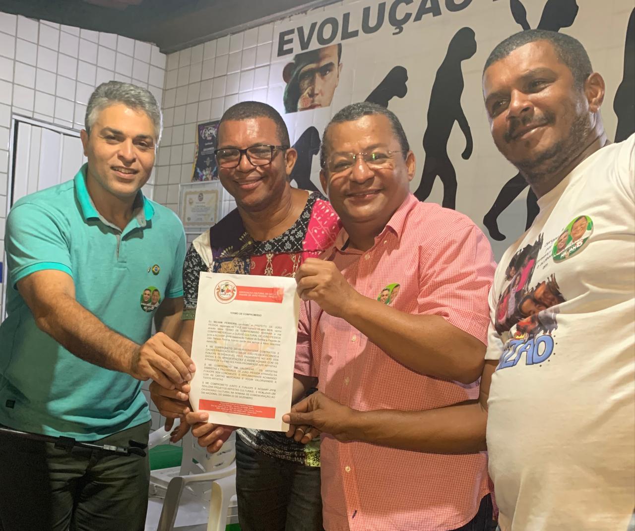 IMG 20201014 WA0009 - Nilvan Ferreira firma compromisso com artistas de incentivo ao setor cultural de João Pessoa