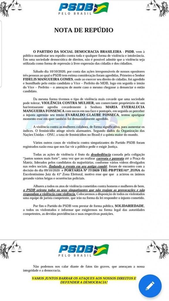 IMG 7939 - CONCEIÇÃO: Partidos alegam confusão e agressões por parte dos apoiadores adversários – LEIA NOTAS