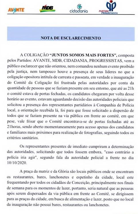 IMG 7942 - CONCEIÇÃO: Partidos alegam confusão e agressões por parte dos apoiadores adversários – LEIA NOTAS
