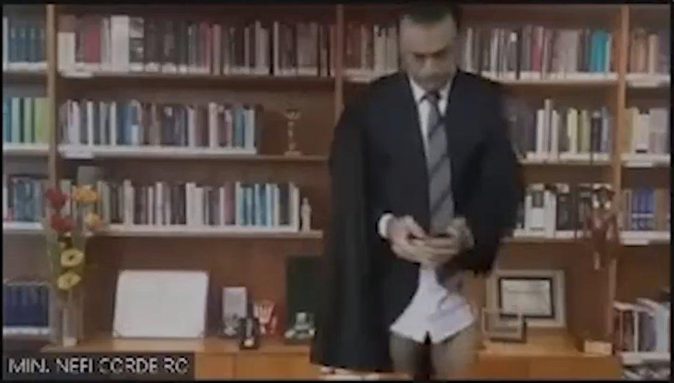 Nefi Cordeiro - Ministro do STJ aparece sem calça em sessão virtual e imagem viraliza; VEJA VÍDEO