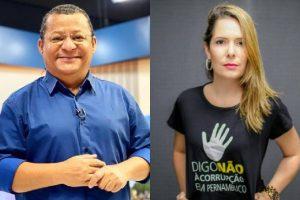 Nilvan Ferreira e Patrícia Gomes 300x200 - Imprensa nacional destaca Nilvan entre os novatos que lideram pesquisas no Brasil