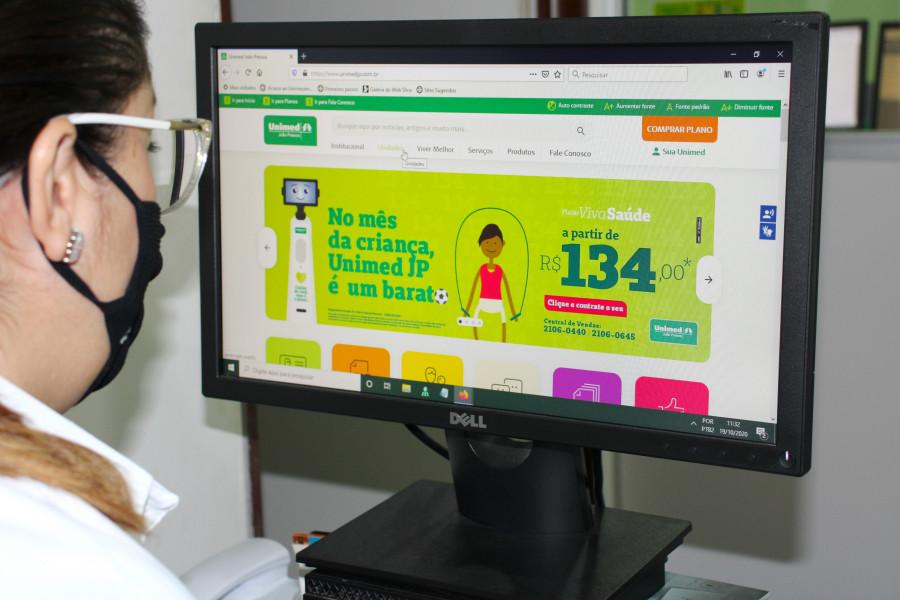Novo Portal Unimed JP 01 - Clientes da Unimed João Pessoa podem agendar exame de covid-19 pela internet