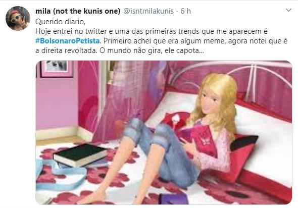 Sem título - '#bolsonaropetista' entra no topo do twitter após presidente indicar Kassio Nunes para vaga no STF
