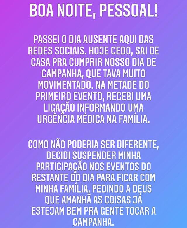 WhatsApp Image 2020 10 05 at 21.49.51 - CAMPINA GRANDE: Bruno Cunha Lima não comparece a debate da TV Master e explica motivo