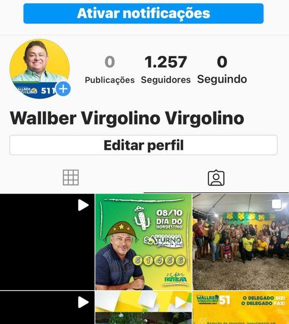WhatsApp Image 2020 10 12 at 16.19.34 1 e1602530649852 - Hackers invadem redes sociais de Wallber Virgolino, pedem dinheiro a seguidores e compartilham pornografia, diz candidato