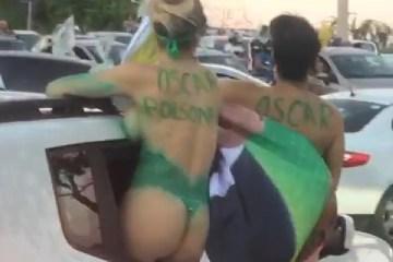 WhatsApp Image 2020 10 18 at 14.38.00 - SEMINUAS: Carreata em Sobral teve presença de mulheres apenas com pintura corporal - VEJA VÍDEO