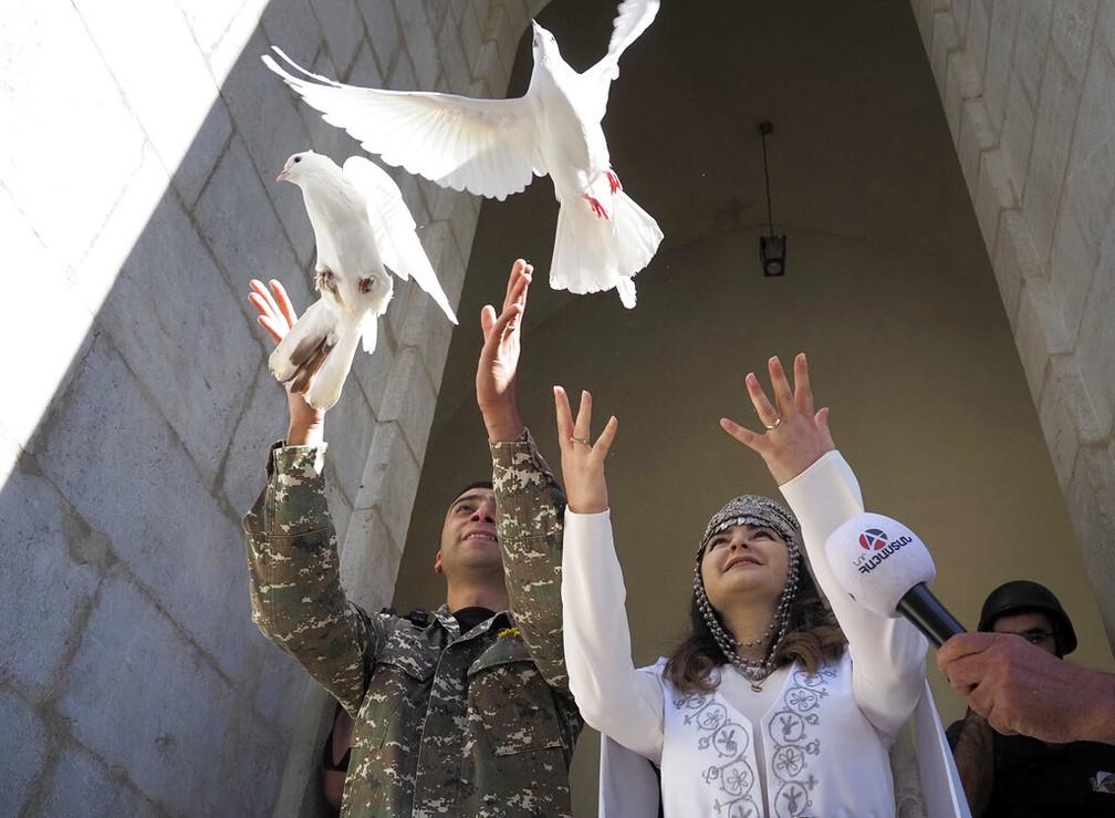 ap20298467766922 - Armênia e Azerbaijão prometeram respeitar novo cessar-fogo, diz governo dos EUA