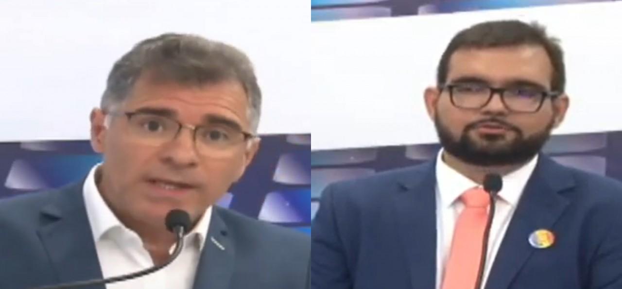candidatos 2 - Artur Bolinha para Olímpio Rocha: ' O senhor é de um partido que tem como principal agenda fechar empresas, você é comunista'