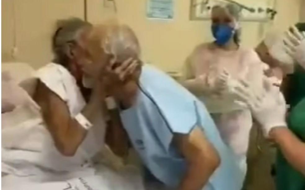 imagem 2020 10 05 201627 - Juntos há 70 anos, casal se reencontra em hospital após ser separado pela Covid-19