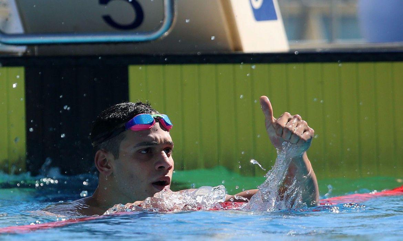 leonardo santos bras isl podio - Leonardo Santos vence 200 medley com recorde pessoal, na Hungria