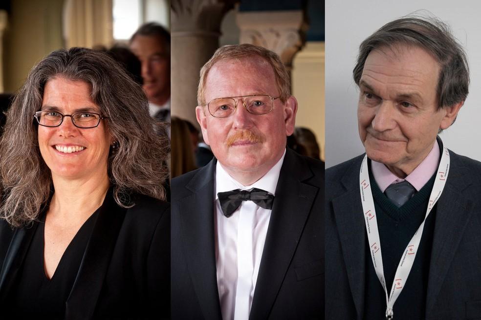 montagemnobelfisica - Nobel de Física premia trio por descobertas sobre buracos negros