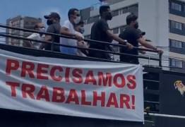 Representantes da Apage realizam protesto para tentar estabelecer propostas para retomada das atividades em João Pessoa – VEJA VÍDEO