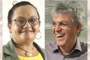 raquel santana e ricardo coutinho - Justiça manda candidata a vereadora retirar postagens ofensivas a Ricardo Coutinho e pagamento de multa