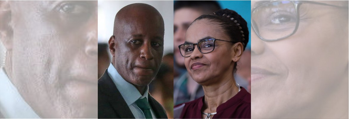 """sergio e marina - """"NÃO TEM CONTRIBUIÇÃO RELEVANTE"""": Presidente da Fundação Palmares diz que tirou nome de Marina Silva de lista de personalidades negras"""