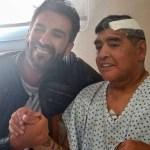 1606403010469 - Maradona bateu a cabeça uma semana antes de morrer, diz TV