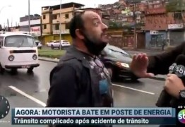 Repórter do SBT é agredido durante reportagem ao vivo – VEJA VÍDEO