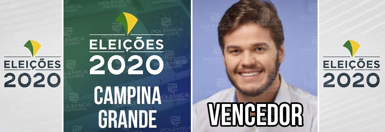 Campina Grande Bruno Cunha Lima - CAMPINA GRANDE: Bruno Cunha Lima é eleito prefeito com 69% das urnas apuradas