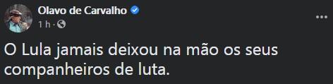 Captura de tela 2020 11 25 125155 - Olavo sugere renúncia de Bolsonaro e elogia lealdade de Lula