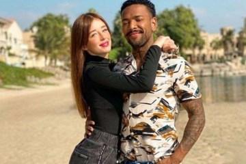 Duda Reis e Nego do Borel posam juntos em Dubai: 'Você é a melhor coisa que eu tenho'