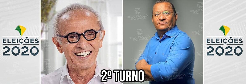 JP 2 turno Cícero e Nilvan 1 1 - PESQUISA OPINIÃO: Cícero Lucena lidera com 43,5% e Nilvan Ferreira tem 32,1%
