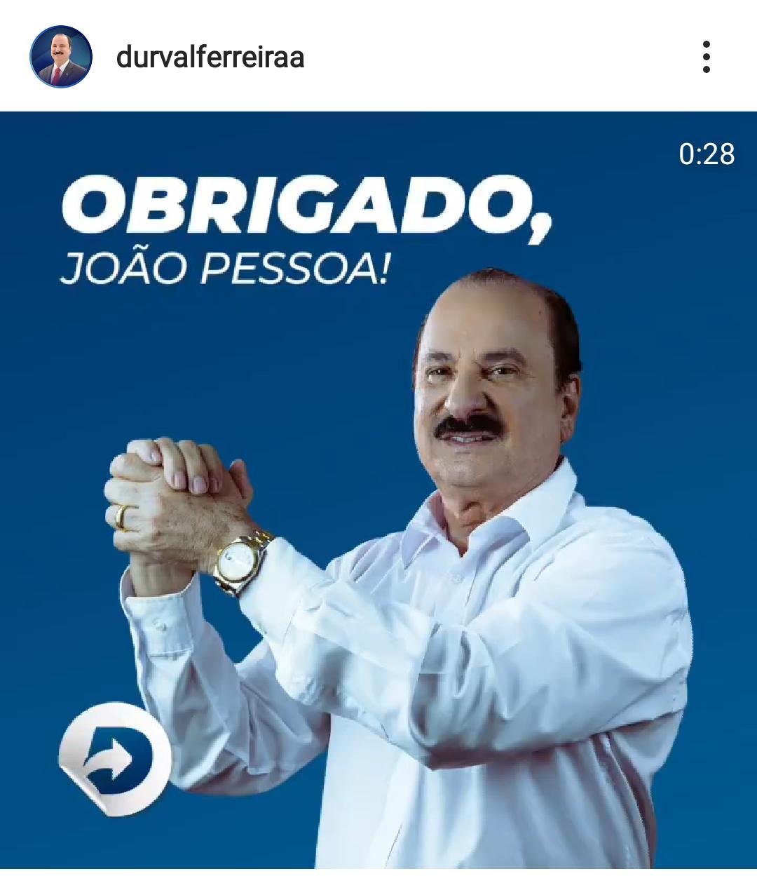 """WhatsApp Image 2020 11 16 at 10.00.41 - Durval Ferreira, reeleito vereador em João Pessoa agradece os votos recebidos: """"Deus sempre nos guiou nessa luta"""""""